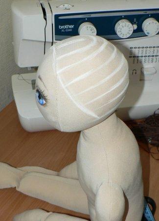Волосы для текстильной куклы. Мастер-класс