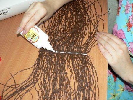 Как сделать волосы тряпичным куклами 668