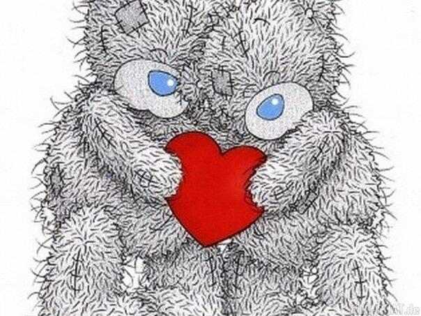 сердечками картинки с плюшевые мишки