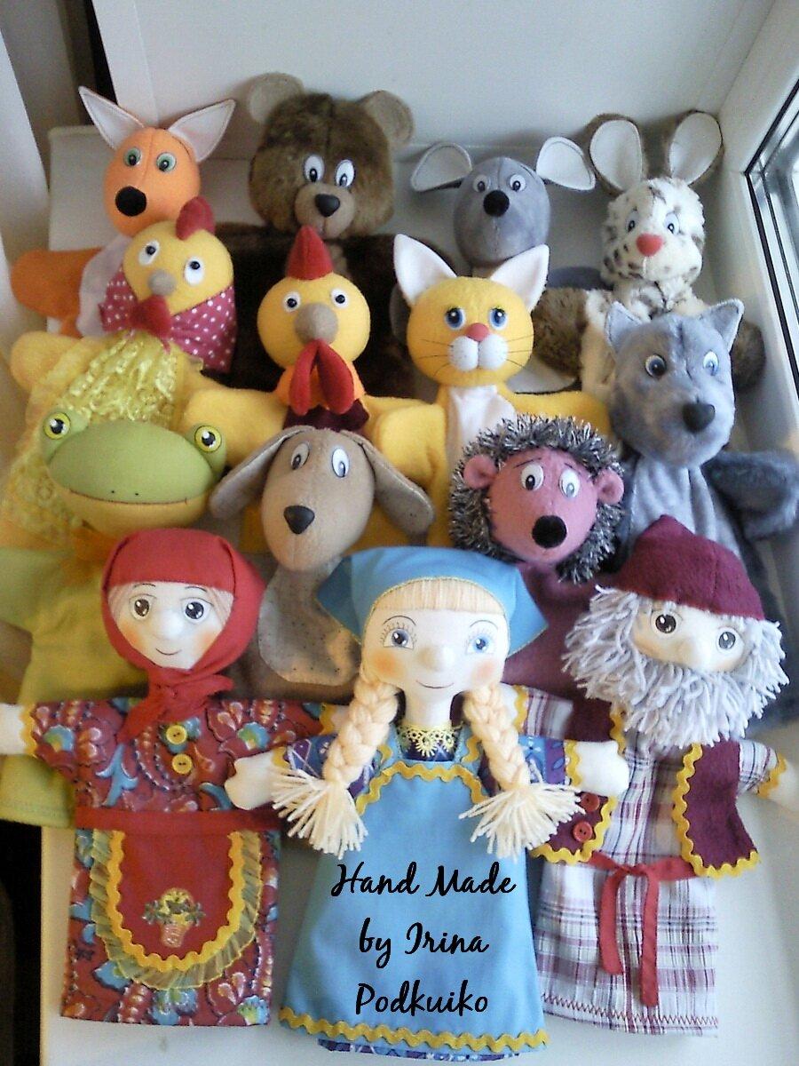 Игрушки перчатки для кукольного театра своими руками фото 29