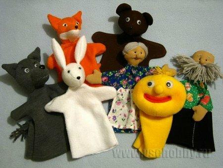 Кукольный театр «Колобок» – выкройки основных персонажей и примеры работ