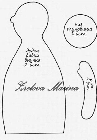 Сказка репка своими руками: выкройки кукольных персонажей в стиле Тильда