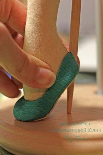 Как сделать туфли для куклы - мастер-класс. Модель без колодки