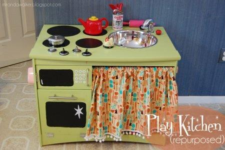 Игровая детская кухня своими руками – отличный пример для вдохновения!