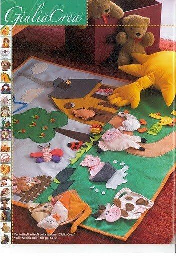 Игровой коврик для малышей своими руками с выкройками