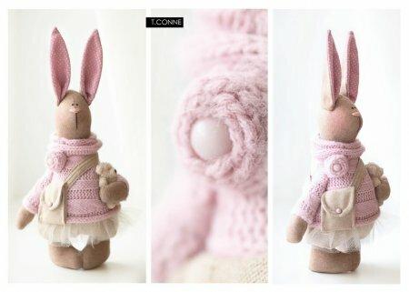 Новая выкройка татьяна коннэ - Розовый красивый зайчик и мышка