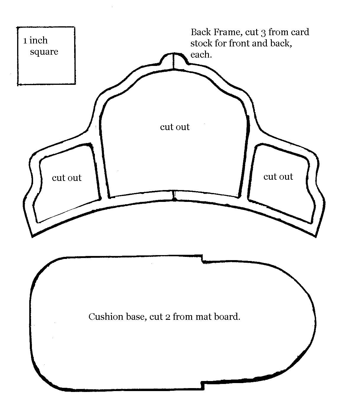 Мебель из картона мастер класс выкройки