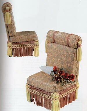 Кресло для кукол в викторианском стиле – мастер-класс