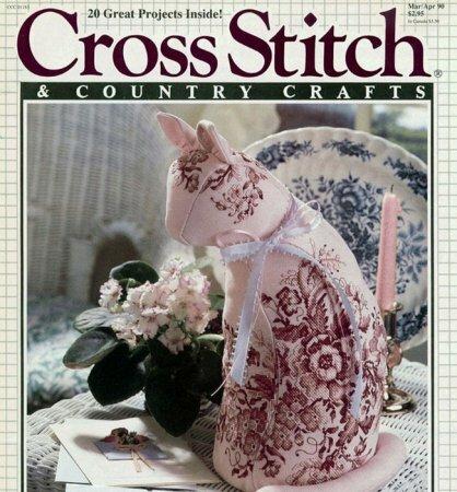 Интерьерные текстильные коты: выкройка из журнала