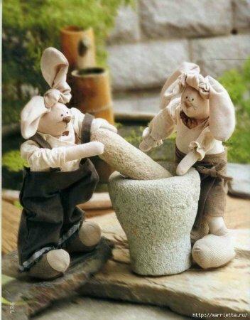 Зайцы уши на узел - выкройка и пошаговая инструкция