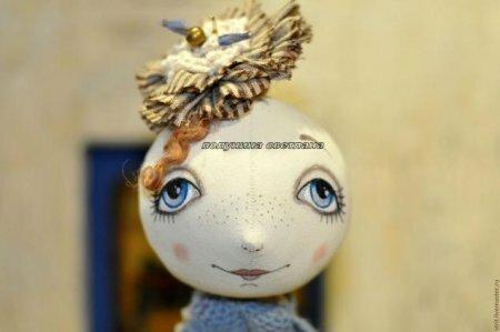 Учимся росписывать лицо тряпичной кукле