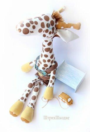 Мастер класс по шитью оригинального жирафа - мягкая игрушка