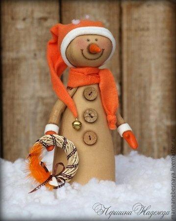 Мастер класс по шитью кофейного снеговика для Нового года