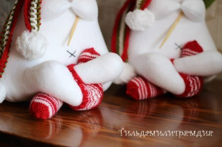 Сидячий заяц – интересный вариант текстильной игрушки: выкройка