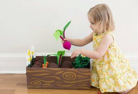Развивающие игрушки из фетра - Грядки для малышей